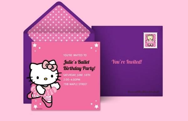 Hello Kitty Birthday Invitation Card Beautiful With Hello Kitty
