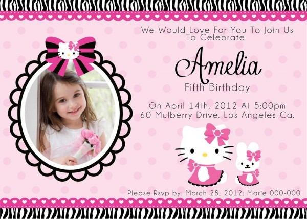 Hello Kitty Birthday Invitation Fancy With Hello Kitty Birthday