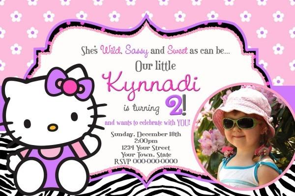 Hello Kitty Birthday Invitations Perfect With Hello Kitty Birthday