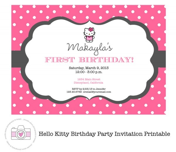 Hello Kitty Invitation Templates Free Download Vintage With Hello
