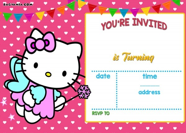 Hello Kitty Invitation Templates Free Download Fancy With Hello