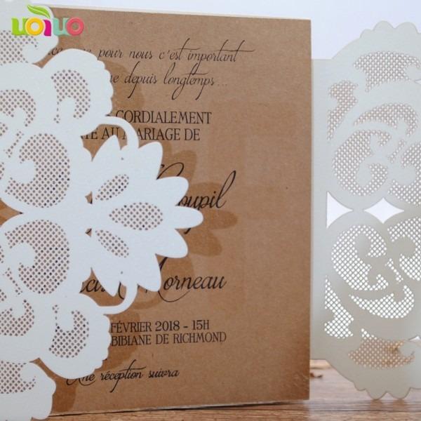 High Quality Handmade Bengali Wedding Invitation Card Laser Cut