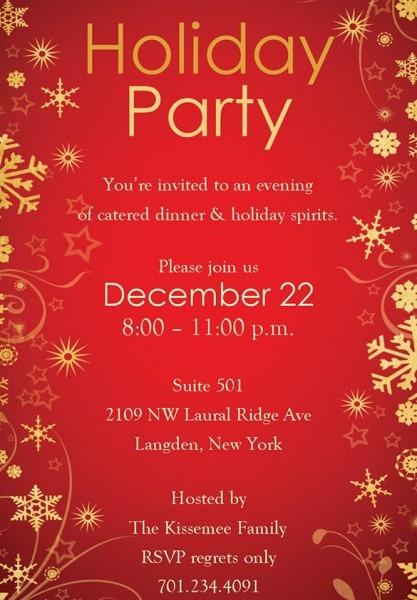 Invitation  Free Holiday Party Invitation Templates
