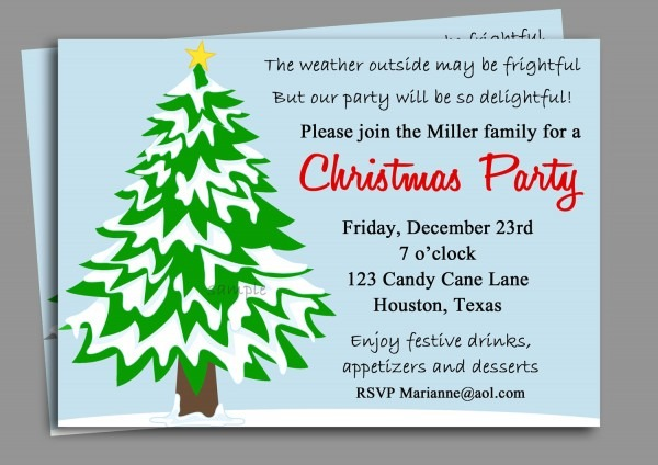 Office Holiday Party Invite