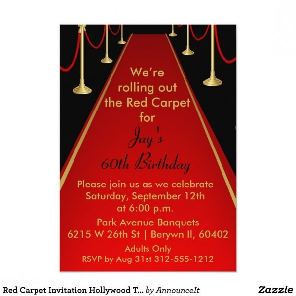50 Gallery Hollywood Theme Party Invites