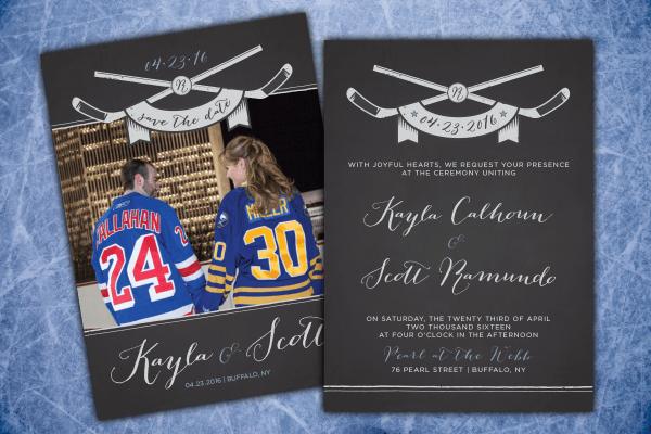 Vintage Hockey Themed Wedding