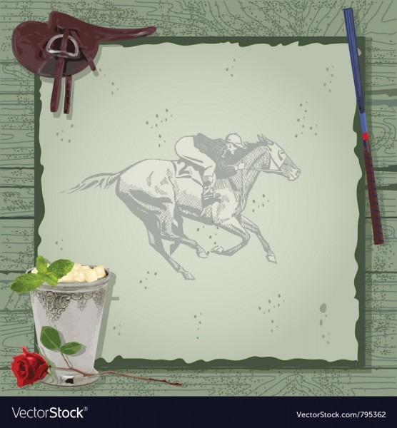 Horse Racing Party Invitation Royalty Free Vector Image