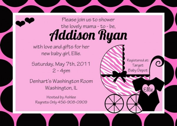 How To Choose Girl Baby Shower Invitation Baby Shower Trendy