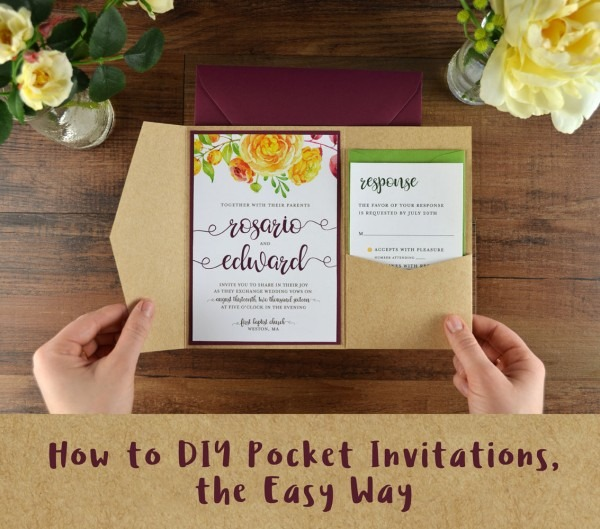 How To Diy Pocket Invitations, The Easy Way