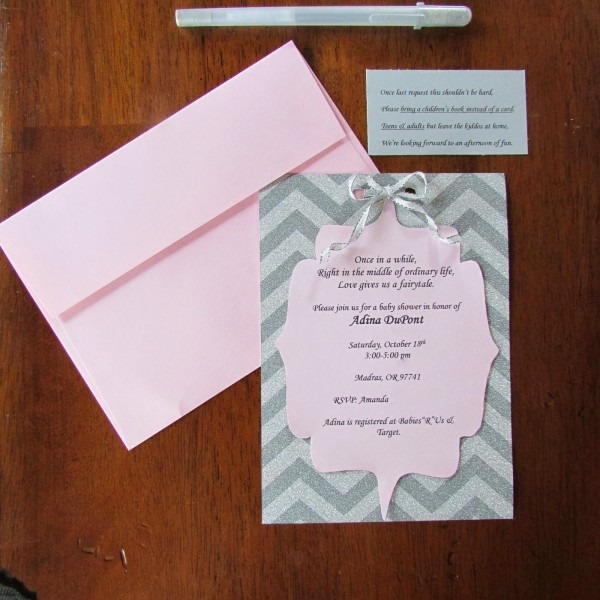 How To Make A Baby Shower Invitation