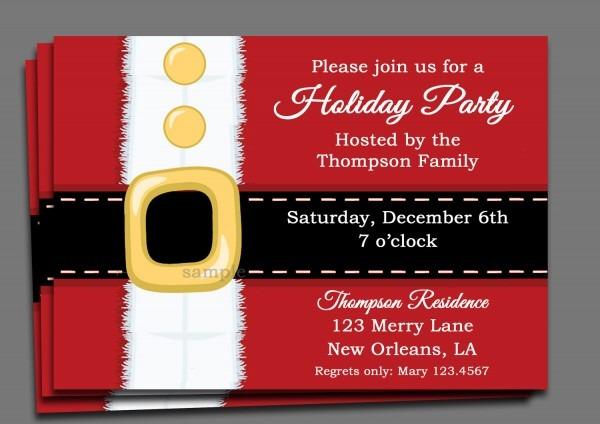 Holiday Invitations Free Christmas Party Invitation Template Net