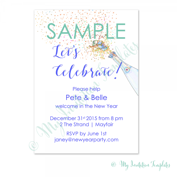 How To Write Invitation Letter Great New Year Party Invitation