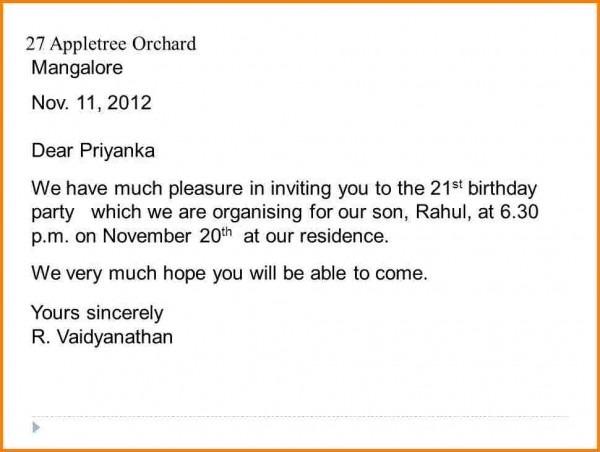 St Birthday Pa Good Birthday Invitation Letter
