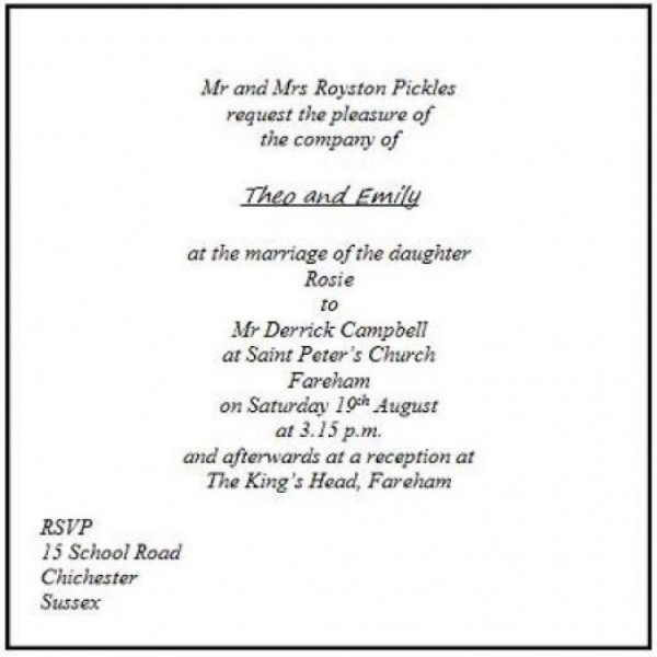 What To Write On Wedding Invitations: Time On Wedding Invitation Etiquette