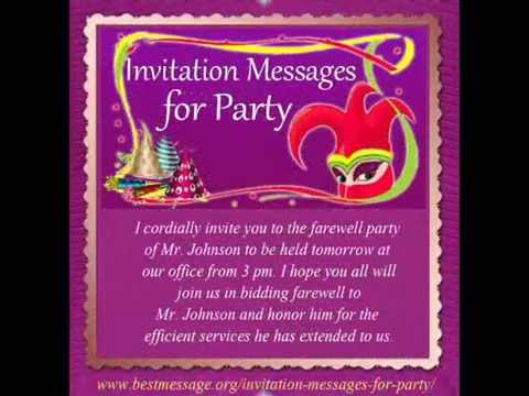 Hqdefault Good Text Invitations For Birthday