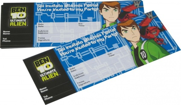 Buy Ben 10 Ultimate Alien Party Invitations In Cheap Price On