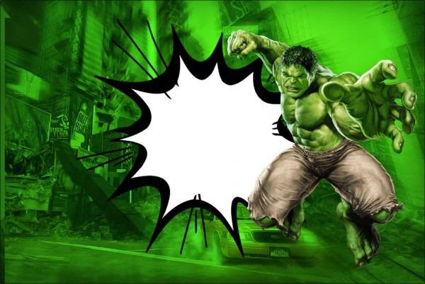 Hulk Free Printable Best Hulk Birthday Invitations