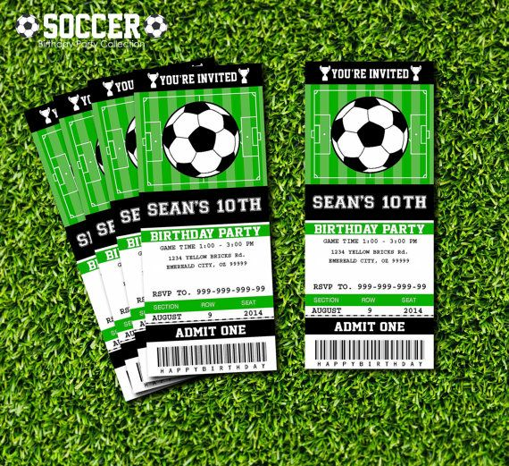 Ideal Free Printable Soccer Birthday Invitations Fresh Free