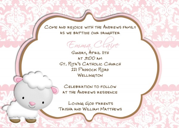 Ideas For Baptism Invitations
