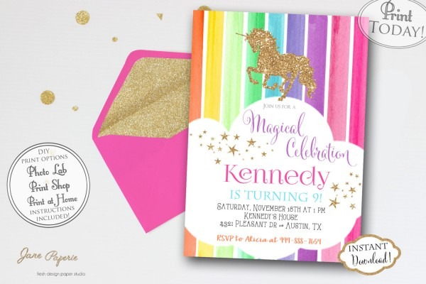 Ideas Unicorn Party Invitations 99 For Card Inspiration With
