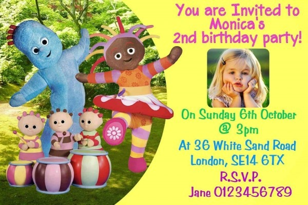 10 Personalised Iggle Piggle Night Garden Birthday Party