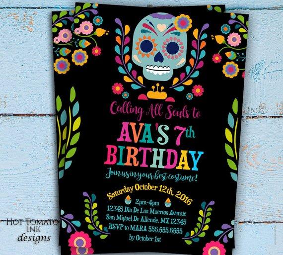 Day Of The Dead Invitation Dia De Los Muertos Invitation
