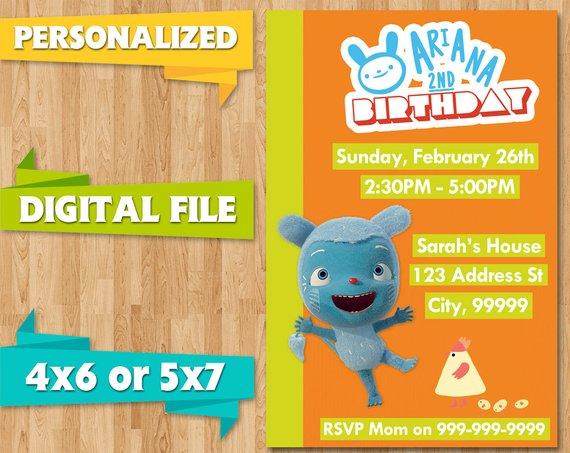 Messy Goes To Okido Birthday Party Invite Invitations Baby