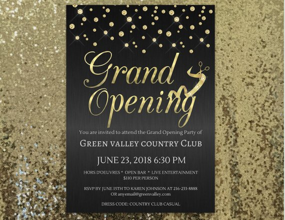 Grand Opening Invitation Company Invitation Office