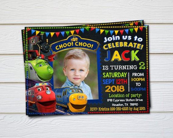 Chuggington Invitation Chuggington Birthday Chuggington