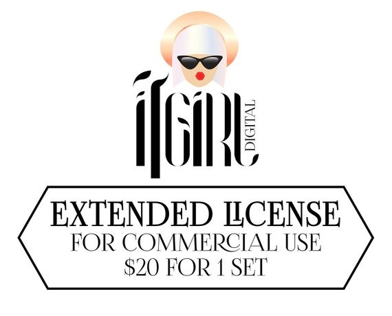Extended Commercial Use License For One Graphic Set For Print