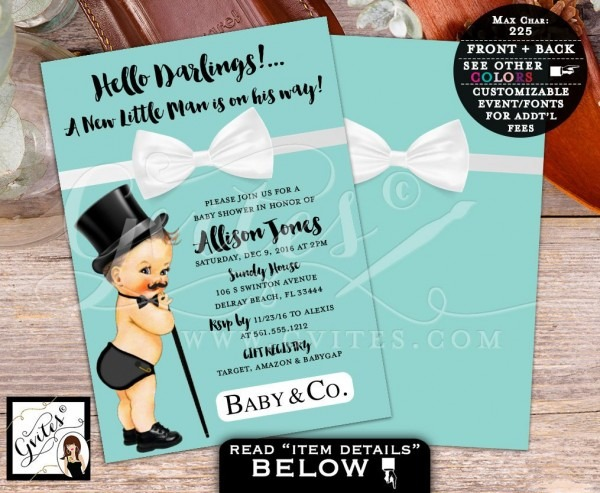 Tiffany Baby Shower Invitations