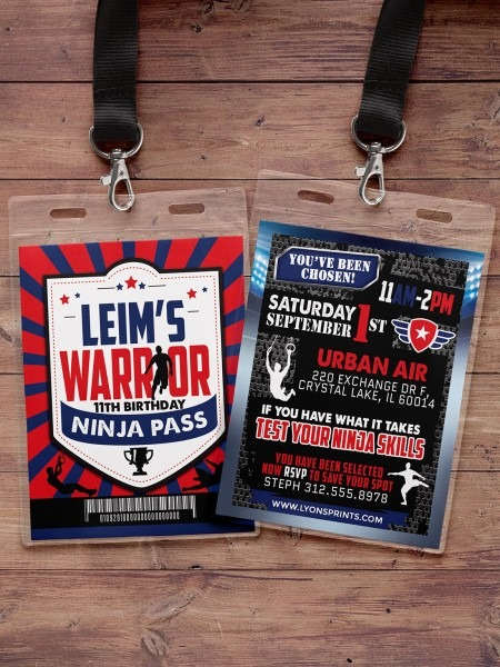 Army Invitation, Warrior Invitation, Ninja Invite, Paintball