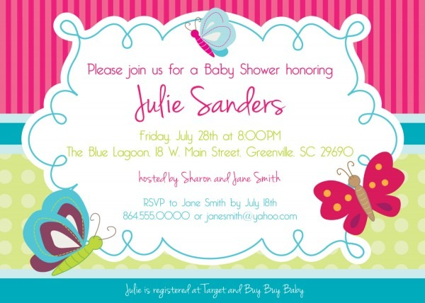 Butterfly Baby Shower Invitations, Butterflies, Spring, Gender
