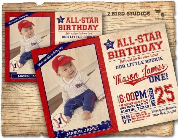 Baseball Invitation   Baseball Birthday Party Invitation