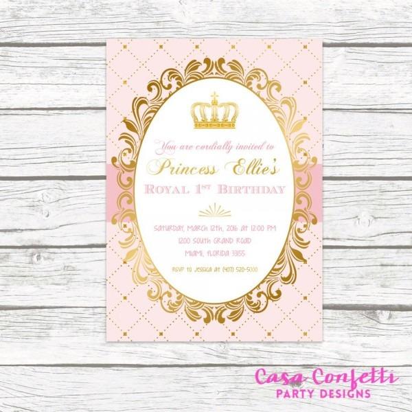 Royal Princess Invitations