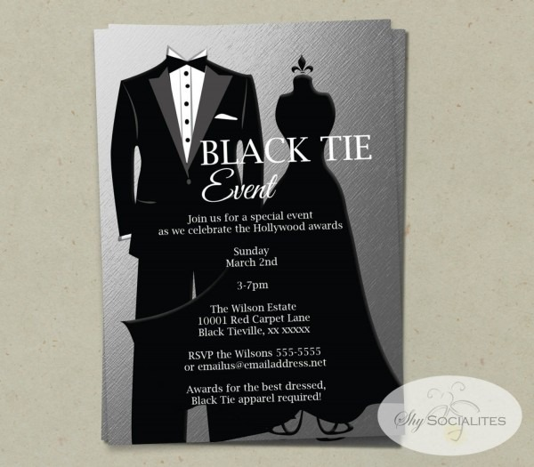 Black Tie Event Flyer Template Rcefecbcedbbbddcb Vgvly Byvr Luxury