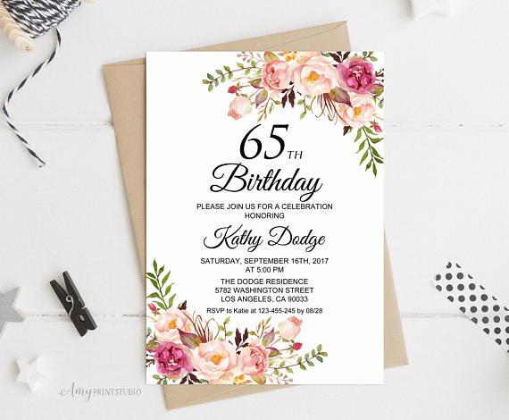 Il Xn Bg Epic 65th Birthday Invitations