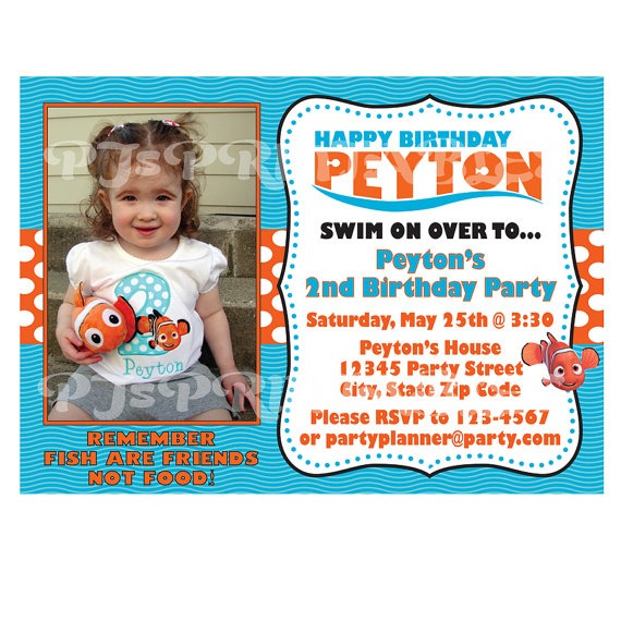 Invitation Template  Finding Nemo Birthday Invitations