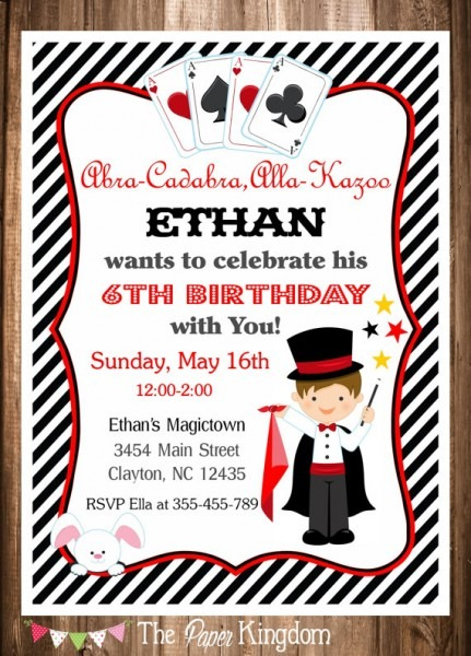 Invitation Template  Magic Themed Birthday Invitations