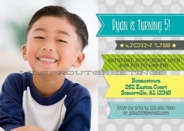 Birthday Invitation Boy