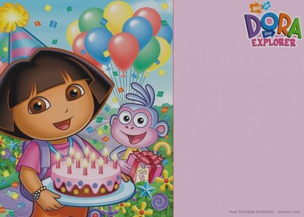 Beautiful Dora The Explorer Birthday Invitations Templates Free