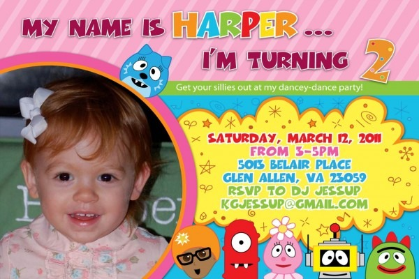 Harper's House  Yo Gabba Gabba Birthday Party