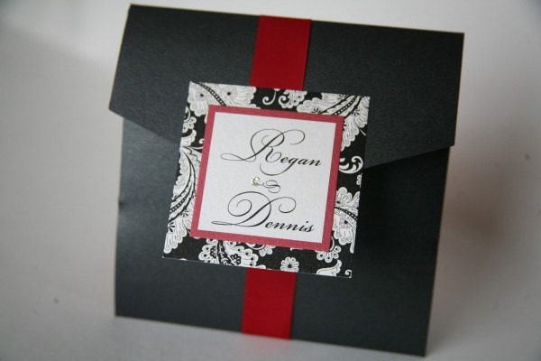 Pocket Invitations Baltimore    Wedding Invitations Baltimore