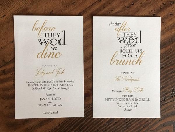Brunch Invitations – Erickson Design