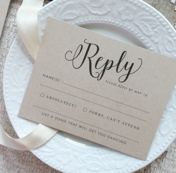 5 Things To Include On Rsvp Cards