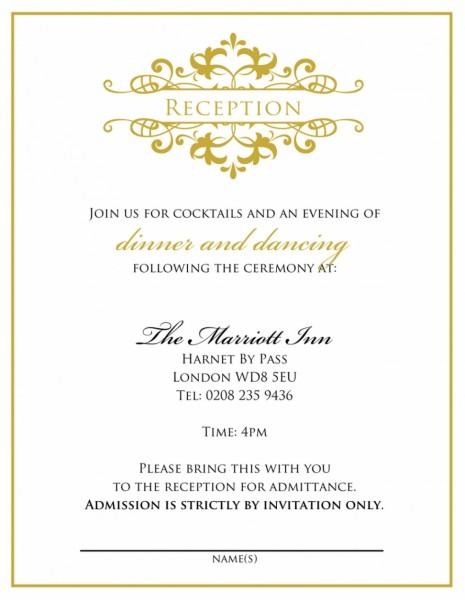 Indian Wedding Reception Invitation Wording Samples Bride Groom