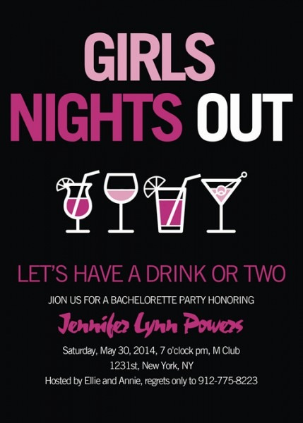 Inexpensive Party Invitations Inexpensive Pink And Black Wine