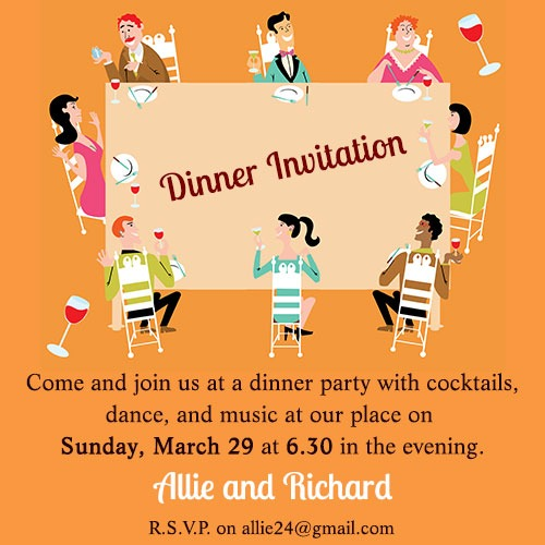 Informal Dinner Party Invitation Wording Stunning Party Invitation