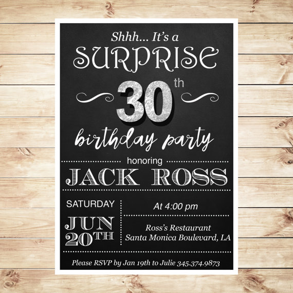 Th Birthday Invitations For Him Trend 30th Birthday Invitations