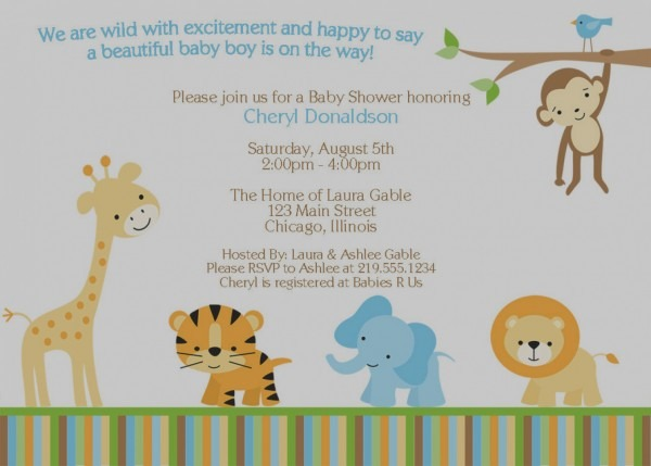 Inspirational Animal Baby Shower Invitations 11 For Your